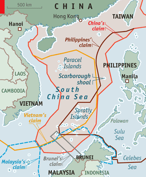 Territorial claims in South China Sea - Economist